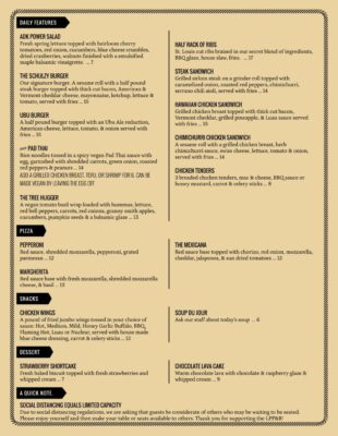 Pub Friday Menu Page 1 1
